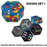 Mal-Set-Kinder-Farbkasten-Buntstifte-Bleistifte-Filzstiften-Wachsmalstifte-Geschenk-Schulstart-Kind