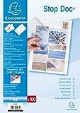 Exacompta - Réf 5670E - Un Étui Carton de 100 Pochettes Perforées Polypro Lisse STOP DOC A4 11/100ème Ouverture en Coin
