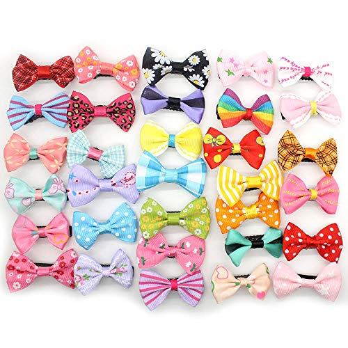 LKJH Haarspange 10 Stück Candy Farbe Haarnadel Haarspange Solid Dot Mini Bow, Nach Dem Zufallsprinzip
