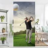 Panel japones Golf Club Paradise 250x120cm | paneles japoneses separadores de ambientes cortina paneles japoneses cortina cortinas | Tamaño: 250 x 120cm incl. soporte de aluminio magnético