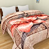 Axcellence Multi Color Premium & Ultra Soft Double Ply Double Bed reversible Mink Blanket - 4+ Kg