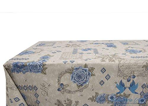 Nappe en 100% coton dessin Emy 140x140 bleu