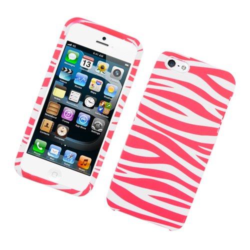 Eagle Zelle Handy Fall für Apple iPhone SE/5/5S-Retail Verpackung-Zebra Pink/Weiß