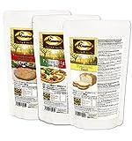 """Dr. Almond Paleo Backmischung PROBIERPAKET """"Gesundes FAST FOOD"""" low-carb glutenfrei sojafrei (3er Pack mit 2 Sorten Brot und 1 x Pizzateig für 2 Pizzen), Das Original LIMITED EDITION!"""