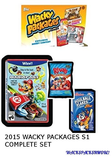 2015 Wacky Packages Series 1 Complete 110 Sticker Set + 1 Exclusive Wrapper! by Topps