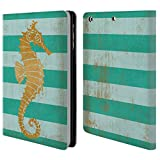 Head Case Designs Offizielle Paul Brent Gold Seahorse Küsten Brieftasche Handyhülle aus Leder für iPad Mini 1 / Mini 2 / Mini 3