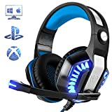 Cuffie Gaming per PS4, Beexcellent Stereo Surround Deep Bass Sound Isolamento Rumore Gaming Headset con Microfono Over Ear Controllo del Volume per Xbox One, PC, Mac, Laptop, Smartphone