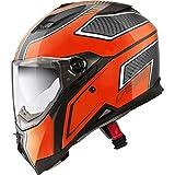Caberg Stunt Blade Motorrad Roller Innensonneblende Integralhelm L Schwarz Orange