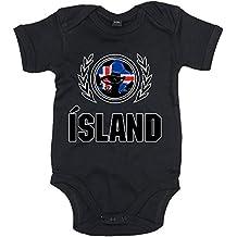 Island EM 2016 #2 Babystrampler   Fußball   Bodysuit   Knattspyrna vs. Strákarnir Okkar   Babybody   Babyeinteiler   OEKO-TEX ® 100 Standard