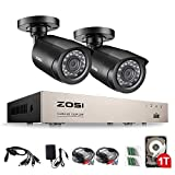 Best Outdoor Security Cameras - ZOSI 720P Home Security CCTV Systems 1TB Hard Review