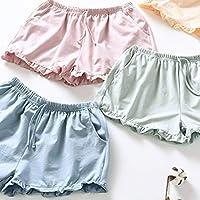 PRETYZOOM Pantalones Cortos Caseros Mujeres Pantalones Cortos de Algodón Casuales Pantalones Cortos de Playa de Verano Pantalones Cortos Sueltos Pantalones Cortos Pijamas para Dama (Talla XL Verde)
