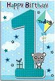 Geburtstags-Karte für ein (1) Jahre alten Jungen, kostenloser 1st Class Post (UK)