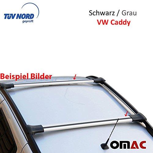 Alu Dachträger Gepäckträger Grau VW Caddy ab Bj.2003> mit TÜV / ABE (ELG)