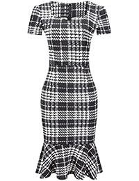 ca146294cbb1d Huixin Vestidos Mujer De Fiesta Medium Largos Elegantes Manga Corta Slim  Fit Sirena Vestido Lapiz Classic