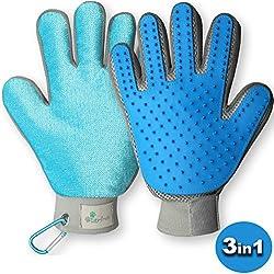 tierfroh Fellpflege-Handschuh für Hunde Katze Pferd Fell-Bürste und Tierhandschuh für Ihr Haustier