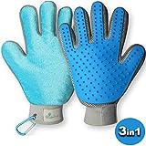 tierfroh Fellpflege-Handschuh für Hunde Katzen Pferd Fell-Bürste und Tierhandschuh für Ihr Haustier