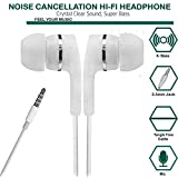 SBA999 Dvaio Dolby Audio Bass In-Ear Earphones With Mic For Gionee A1 Plus (White)