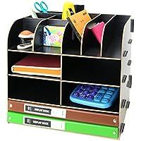 lokauf revistero madera revistero Caja Organizador documentos Desktop, color tipo 2 32 * 24 * 27cm