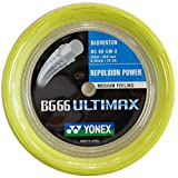 Yonex BG-66 Ultimax 200 m Rolle Badminton Schlager, Color- Yellow