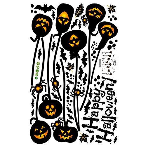 ARAYACY Halloween Wandaufkleber/Spukhaus Elf Kürbis Licht Wandaufkleber Fenster Aufkleber Dekoration PVC
