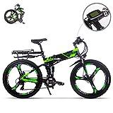 eBike_RICHBIT RLH-860 bicicleta eléctrica bicicleta de montaña plegable MTB e bicicleta 36V * 250W 12.8Ah litio - batería...