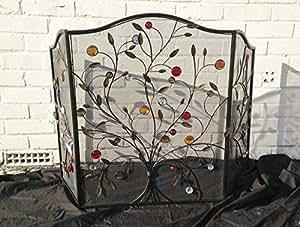 Écran de cheminée décoratif-bijoux en métal Branche Pare-feu (4334)