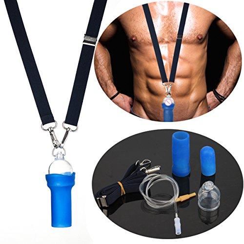 JSSMATE Profi männlich Penis Extender Vergrößerer Enhancer System Bahre Kit Verbesserung, Androgrow Penis Pumpe Penisvergrößerung (M SIZE CUP3.5cm)