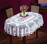 Nappe ovale blanche - Grande ou moyenne - De qualité supérieure., Polyester, blanc, 55' x 87' (140 x 220cm) OVAL