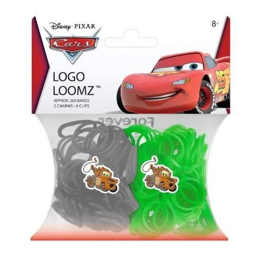 Hit Entertainment Licensed Logo Loomz Filler Loom Bands & 2 Charm Pack - Disney, DC Comics & More! (Disney Cars Mater) by Forever Collectibles