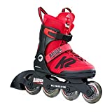 K2 Sports Kinder Raider Pro Inline Skates, Rot, 29-34 (US 11-2/UK 10-1)