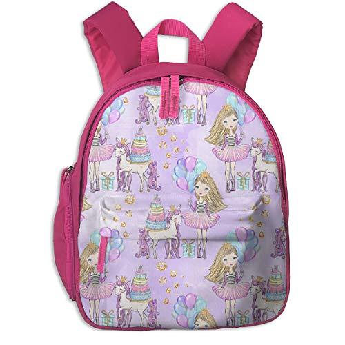 Kinderrucksack mädchen,Einhorn Party Birthday Girl Balloons_3271 - parisbebe, Für Kinderschulen Oxfordstoff (pink) Kind Pink Dragon Girl