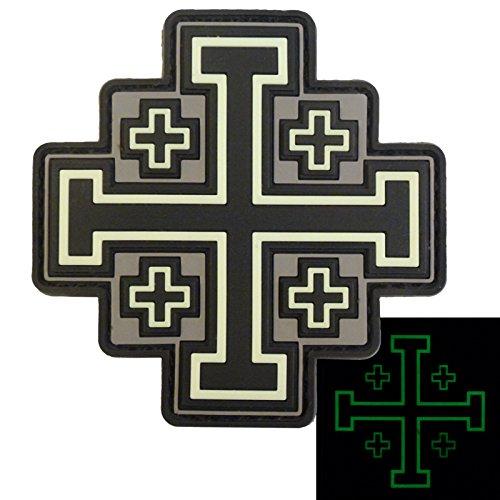 Glow Dark ACU Order Holy Sepulchre Jerusalem Cross Templar Crusaders Morale PVC Hook&Loop Écusson Patch