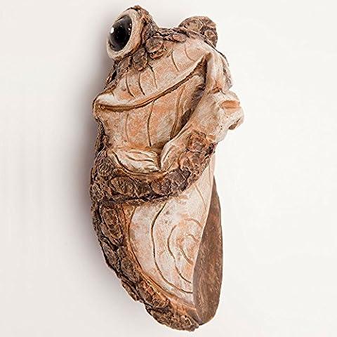 Embouts et pièces–Keep quiet Grenouille Arbre peeker–polyrésine Durable Animal tree-hugger Sculpture–Pelouse et jardin extérieur Décor (Polyresin Ganci)