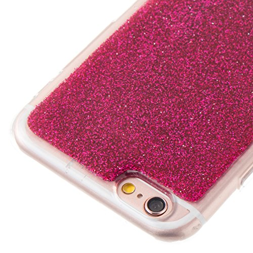iPhone 6 Plus Hülle, iPhone 6S Plus Hülle, Valenth Bling Sparkly Powder Soft TPU Silikon Stoßstange für iPhone 6 Plus / 6s Plus Red 6G