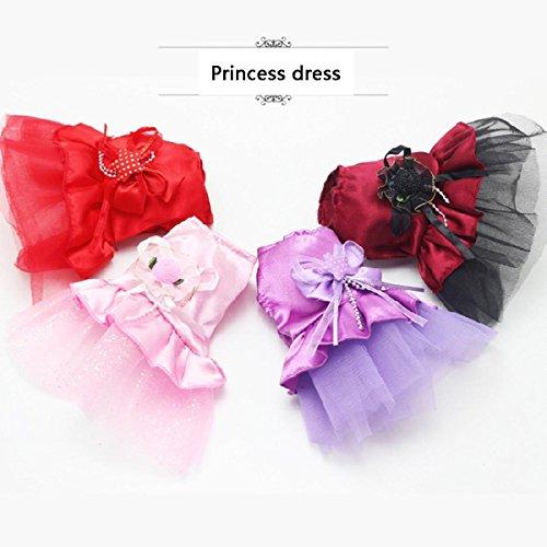 Welpen Kleidung Milch Hund Rock Mini Hochzeitskleid Kleid Prinzessinenkleid Teddybär Chihuahua...