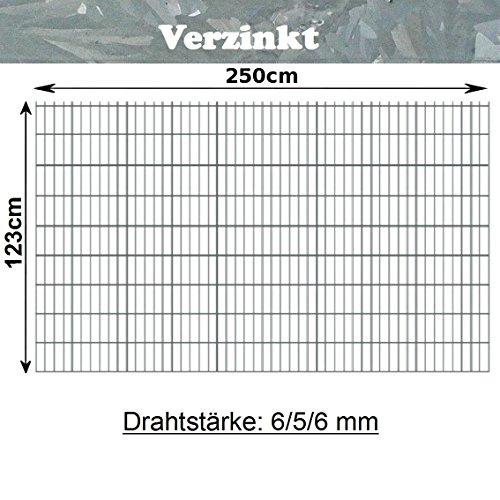 Zubeh/ör 130cm - 260cm inkl Pfosten f/ür Doppelstabmatten Gittermatte Gr/ün RAL 6005//f/ür Zaunfeld mit 83cm 203cm, Gr/ün 203cm H/öhe//mit /Überma/ß zum Einbetonieren insgesamt