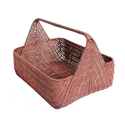 Kaufen Sie Nahrungsmittelkorb/Lager-Handkorb/Picknick-Korb/Supermarkt Einkaufskorb Küchenregale (Farbe : A)