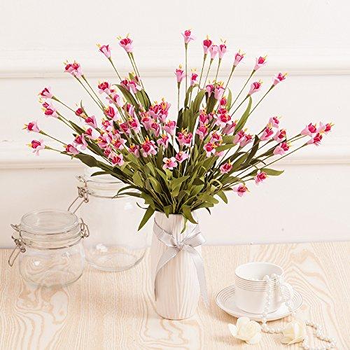 clg-fly pastorale bicolore in gomma sono simulazione fiore artificiale fiori corpetto series-ling Living Room Decoration Pink