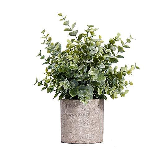 Weseedoo pot grigio pianta artificiale in vaso piante da esterno in vaso piante decorative da tavolo decorazioni pasquali decorazione della cucina piante sintetiche in plastica