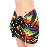 Rosennie Damen Gedruckt Strand Schal Strand Bikini Bademode Strandtuch Bikini Wickelrock Frauen Chiffon Schal Wrap Cover Up Rock Badeanzug Beach Bikini Swimwear Strand Halstuch