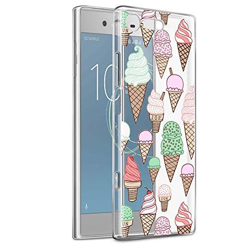 Eouine Sony Xperia XZ1 Compact Hülle, Ultra Slim Soft TPU Muster Schutzhülle Silikon Stoßfest Bumper Case Cover für Sony Xperia XZ1 Compact 4.6-inch Smartphone (EIS) -