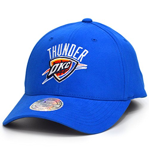 Mitchell & Ness Snapback Cap Team Logo Low Pro 110 Oklahoma City Thunders Blue Low Pro Cap