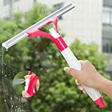 #6: House Of Quirk Creative multipurpose one spray glass cleaner clean the windows tool wiper scraping floor tile- Red