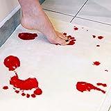 Halloween sangue horror Movie, Favolook Bloody footprints tappetino da bagno porta tappetini antiscivolo tappeti