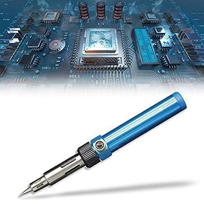 3 en 1 kit profesional de soldador a gas con soldadura/soplador de aire caliente/pistola de calor electrónica que repara herramientas manuales