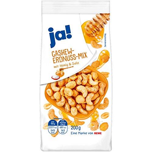 ja! Cashew-Erdnuss-Mix Honig & Salz 200g (Honig Salz Und)
