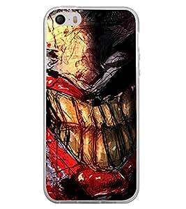 PrintVisa Designer Back Case Cover for Apple iPhone 4S (Comics Image Jocker Image Teeth Wallpaper)