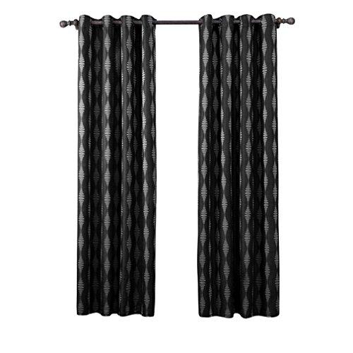 LLW Thermal Blackout Vorhang Panels Super Soft Diamant Gedruckte Ösen Vorhänge Thermische Isolierte Blackout Vorhänge für Wohnzimmer 2 stücke, 140 * 220cm