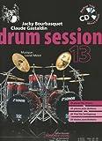 Bourbasquet: Drum Session 13 29 Pieces pour Batterie (Livre + CD) - le Livre