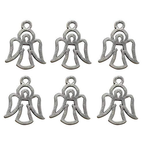 shöhlen Engel Charme anhänger DIY schmuck Machen Charme für Halskette Armband ohrring basteln schmuck Machen (Antik Silber) ()